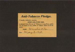 anti tobacco pledge