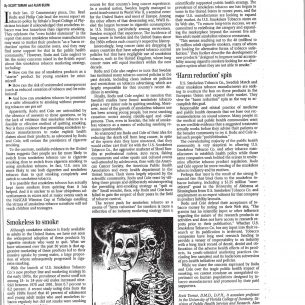 2003 Birmingham News Smokeless Tobacco Lifesaver or Ploy