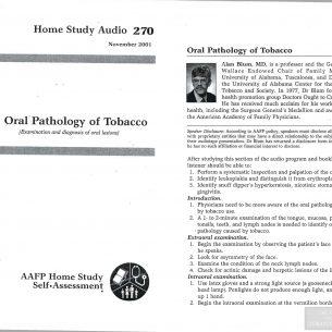 AAFP Home Study Oral Pathology of Tobacco wm