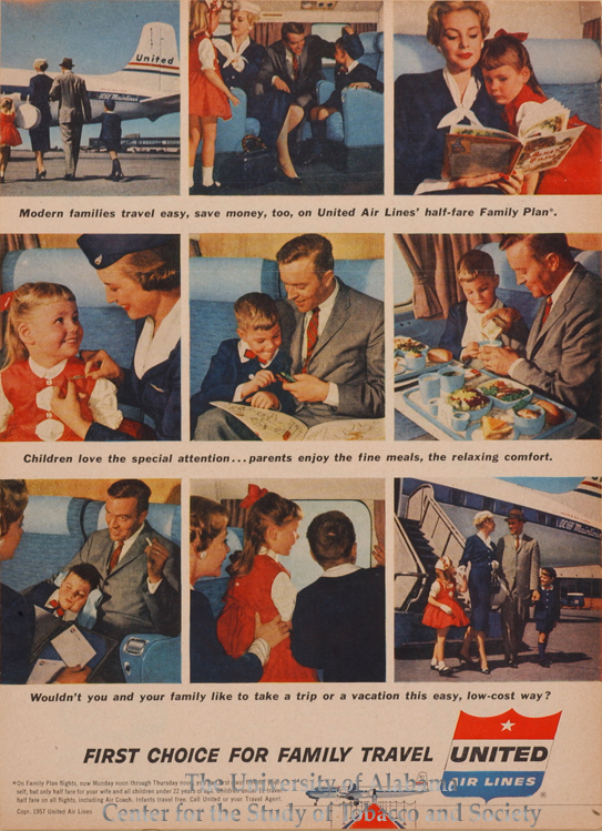 1957 United Airlines Modern Families