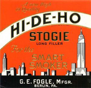 1933 HiDeHo Cigar ad