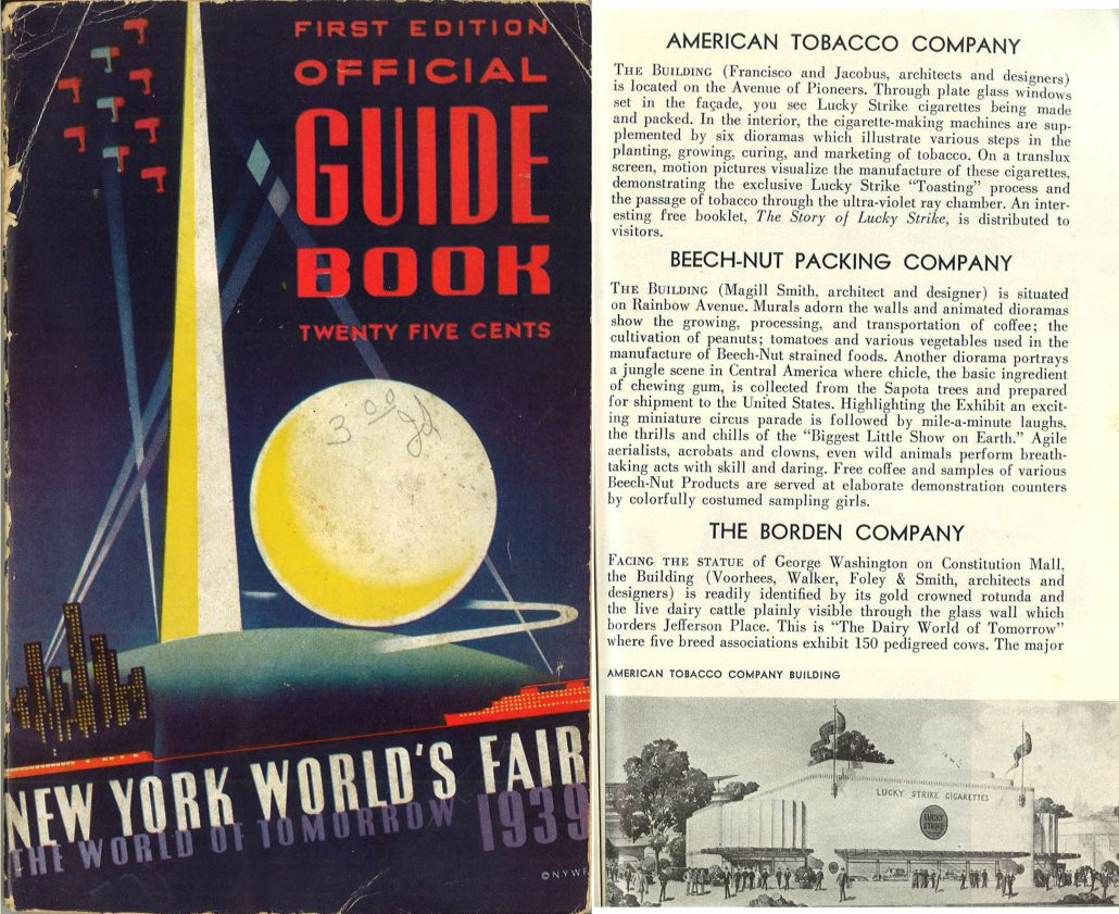 1939 New York Worlds Fair Guide Book Front Cover Internal Page