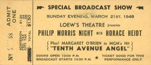 1948 Loews Theatre Philip Morris Night