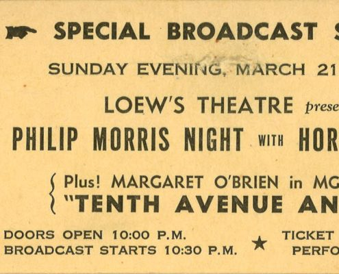1948 Loews Theatre Philip Morris Night
