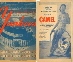 1957 Yankees Program Front Cover Camel Ad