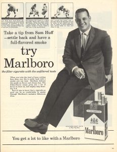 1960 Sam Huff for Marlboro