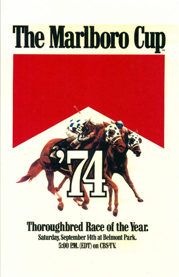 1974 Marlboro Cup Belmont Park poster