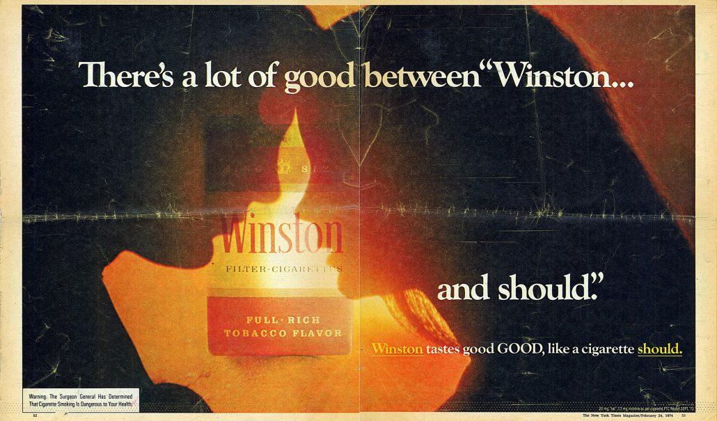 1974 Winston in New York Times Magazine