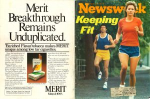 1977 Newsweek Keeping Fit and Merit ad