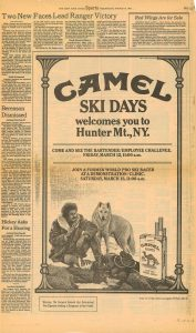 1982 Sports page Camel ski ad re