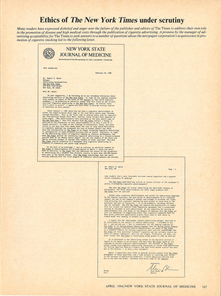 1984 NYSJM Ethics of New York Times  p1