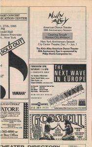1988 Alvin Ailey ad Philip Morris