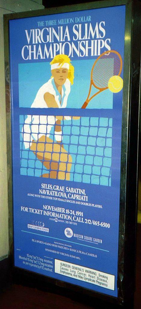 1991 New York Virginia Slims Championships Large Sign