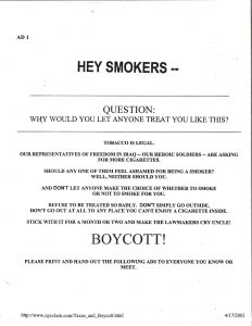 2003 Smokers Boycott Flyer Resize 60