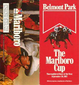 Belmont Park Marlboro Cup 1987 program