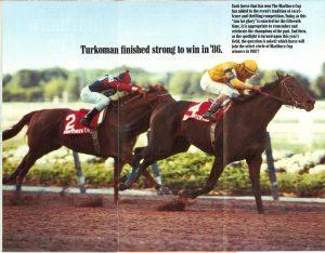 Belmont Park Marlboro Cup 1987 program  inside 2