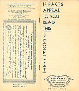 Bonded Tobacco Company brochure  p1