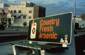 Country Fresh Arsenic Bus Bench