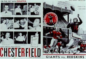 Giants v Redskins Program