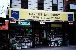 Health Beauty Drugstore with Camel Ad