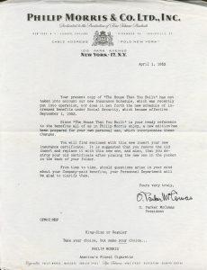 Letter addendum