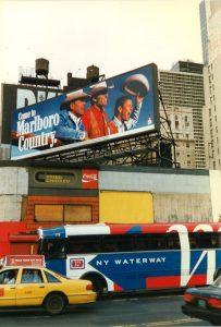 NY Waterway Bus near Marlboro billboard