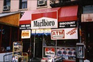 NYC Convenience Store with Marlboro Ad