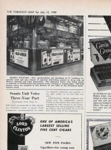 Old Gold lunch stand article