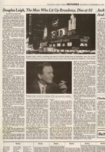 The Man Who Lit Up Broadway The New York Times 1999  Full