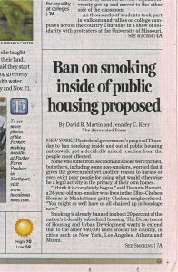 Tuscaloosa News Ban on smoking inside of public housing
