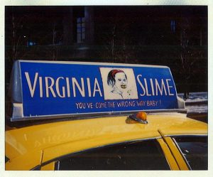 Virginia Slime taxi blue
