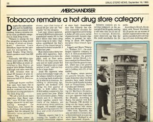 drug store news 1985 tobacco remains hot category Resize 60