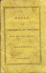 essay on influence of tobacco