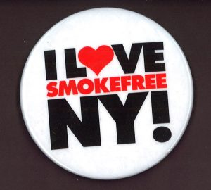 smokefree nyc button