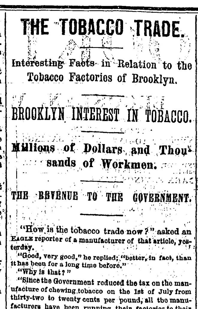 the tobacco trade tn