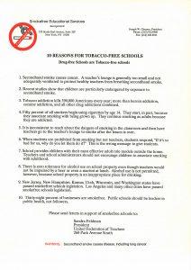 tobacco free schools