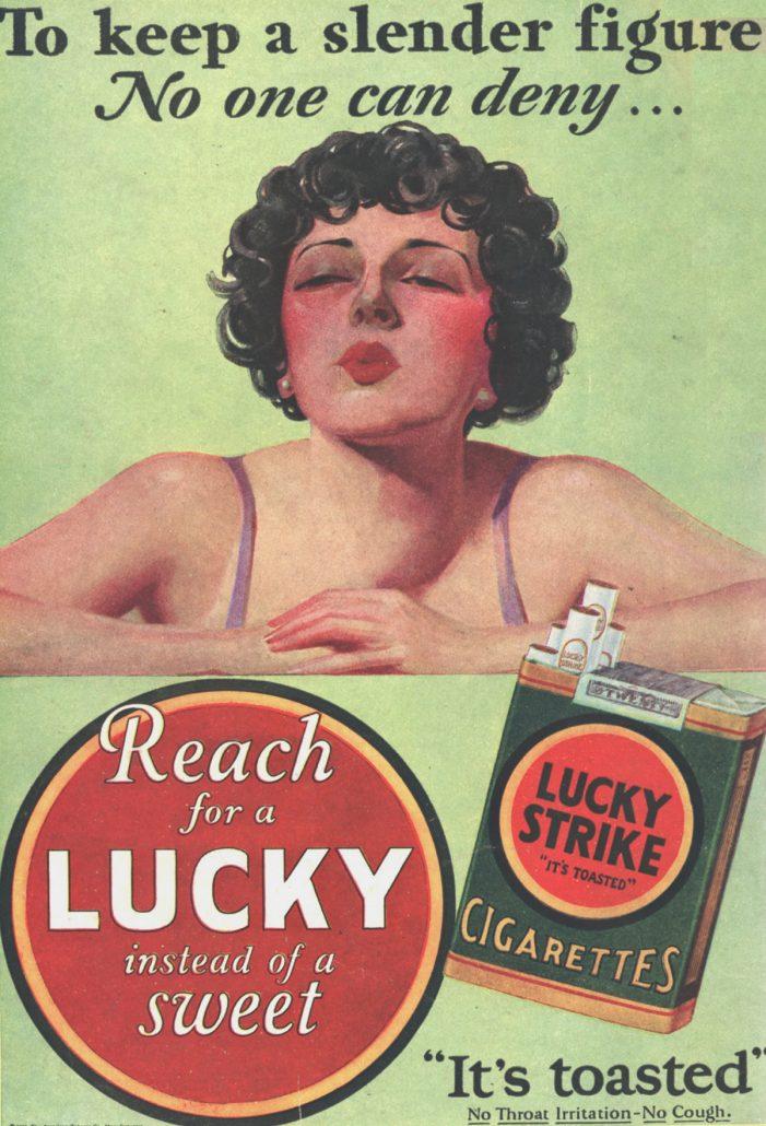 1929 Lucky Strike Ad To Keep a Slender Figure