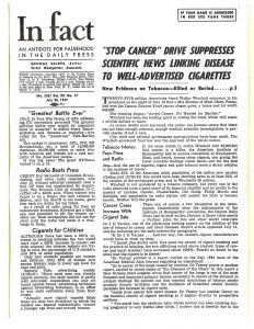 1947 In Fact Stop Cancer Drive Suppresses Scientific News Linking Disease to Cigs Pg 1 Resize 60