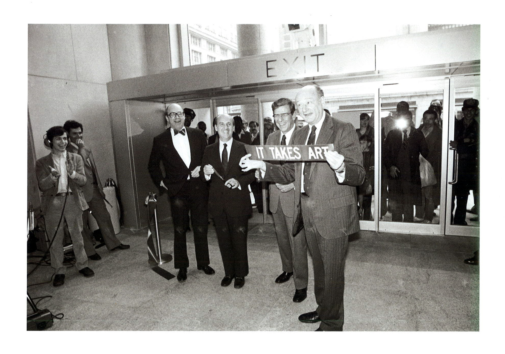 1983 Ed Koch at Whitney Museum Opening