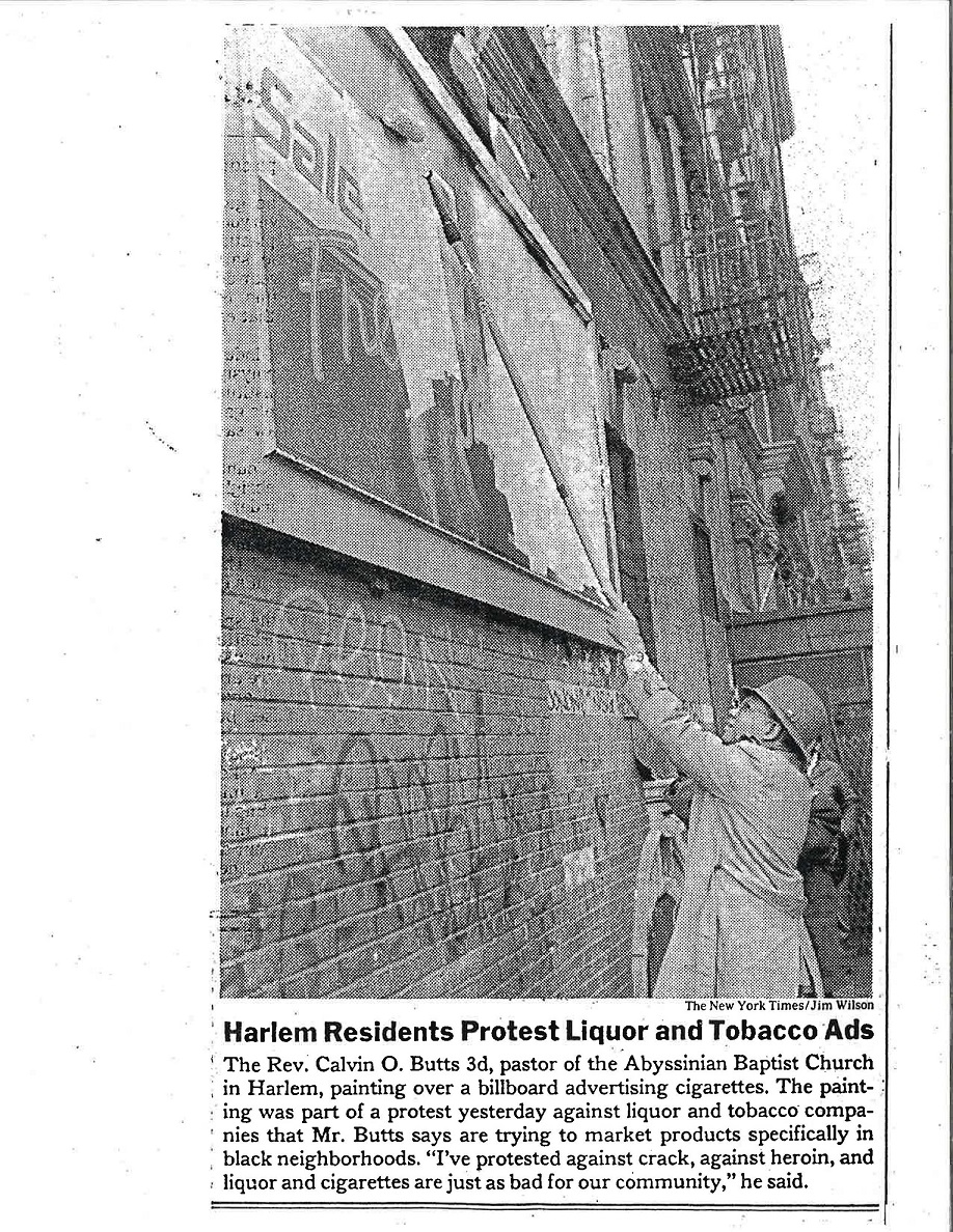 1990 NY Times Harlem Residents Protest Liquor Tobacco Ads 1