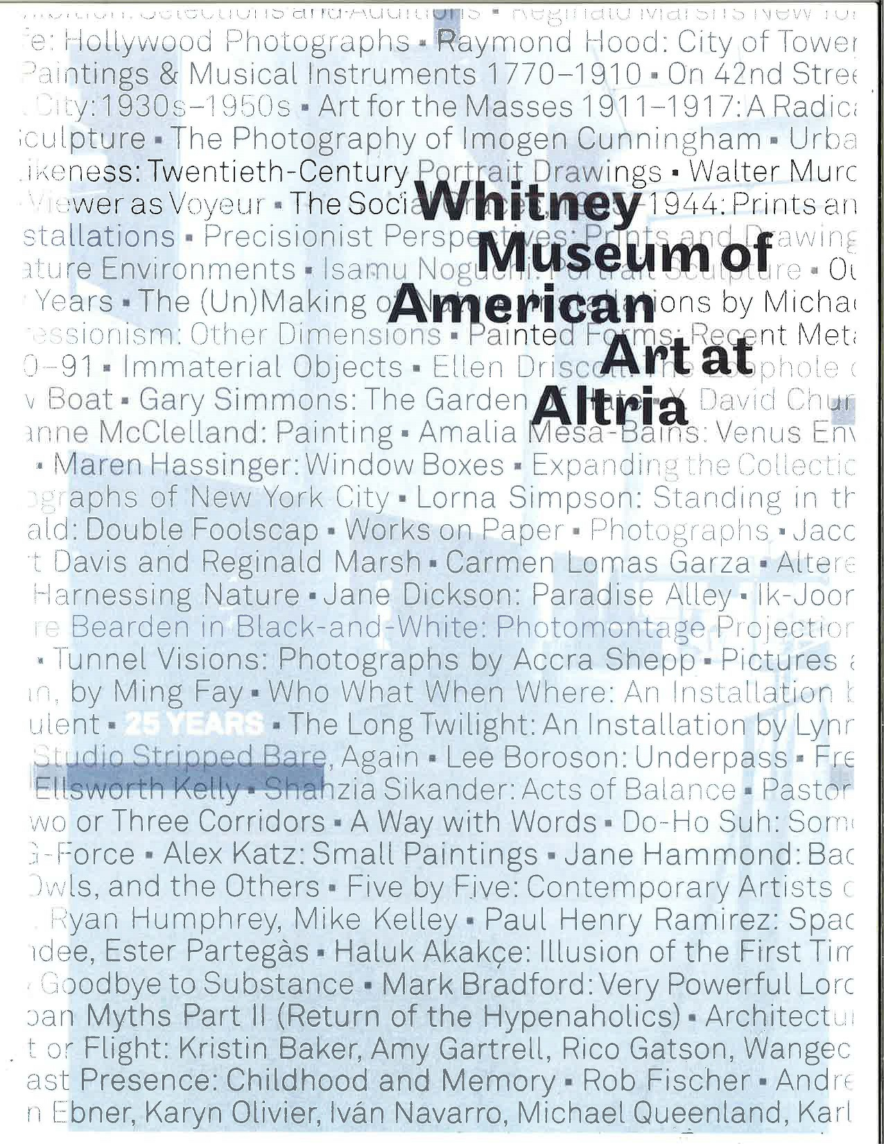2008 Whitney Museum Front Cover 1