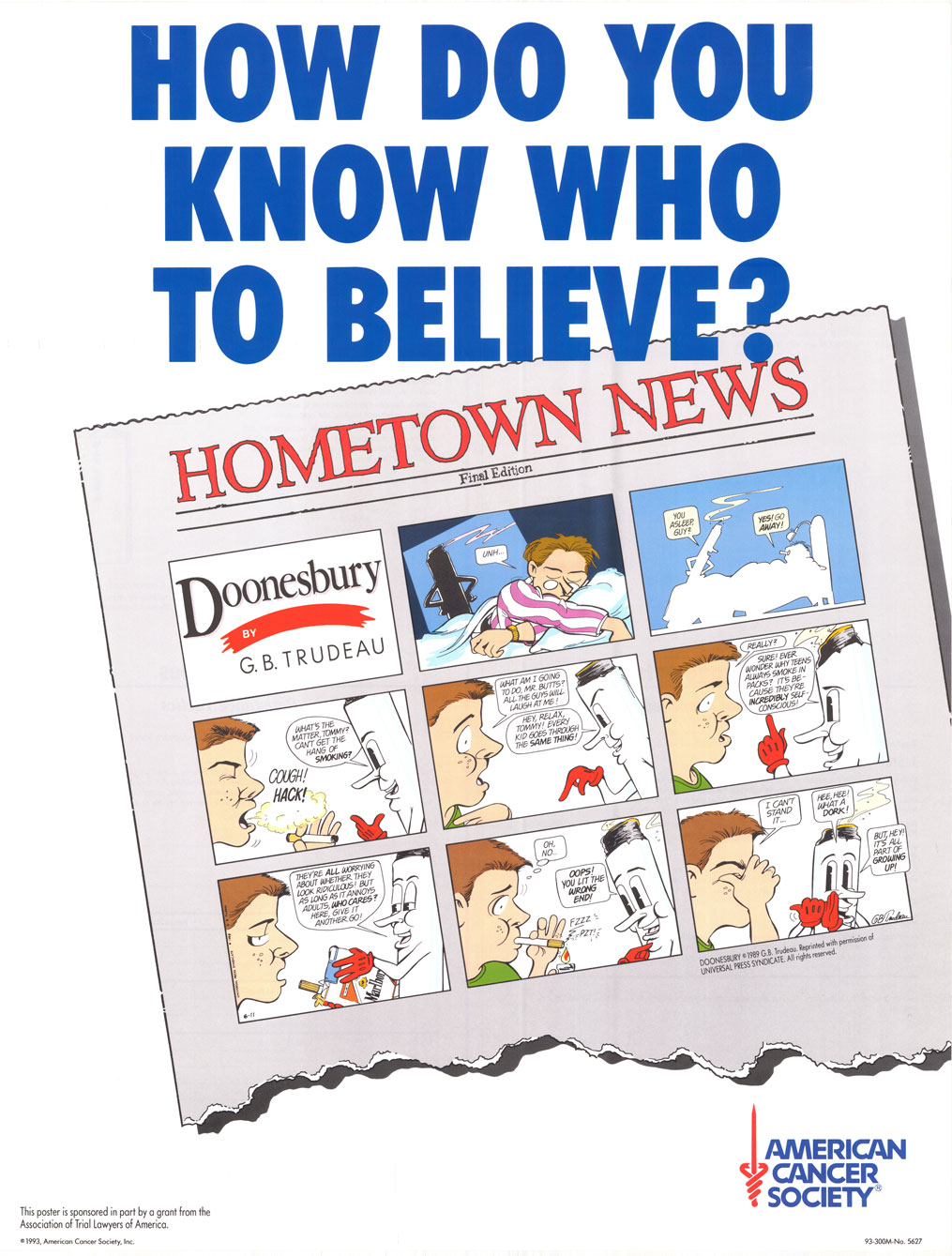 How do you know who to Believe American Cancer Society 1993