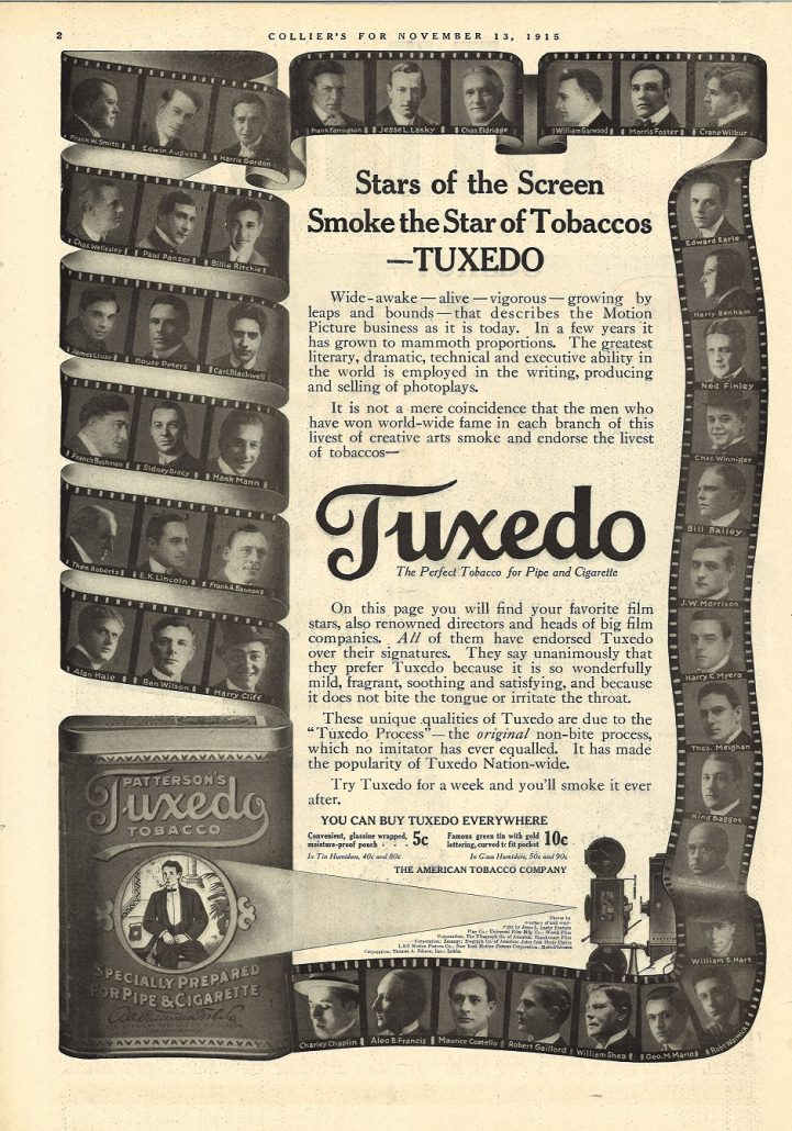 1915 Colliers Charley Chaplin Etc. for Tuxedo 1