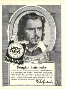 1928 Theatre Magazine Douglas Fairbanks for Lucky Strike