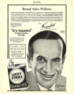 1929 Life Al Jolson for Lucky Strike 1