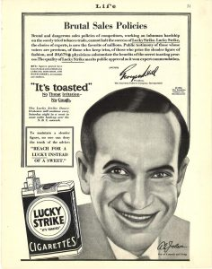 1929 Life Al Jolson for Lucky Strike