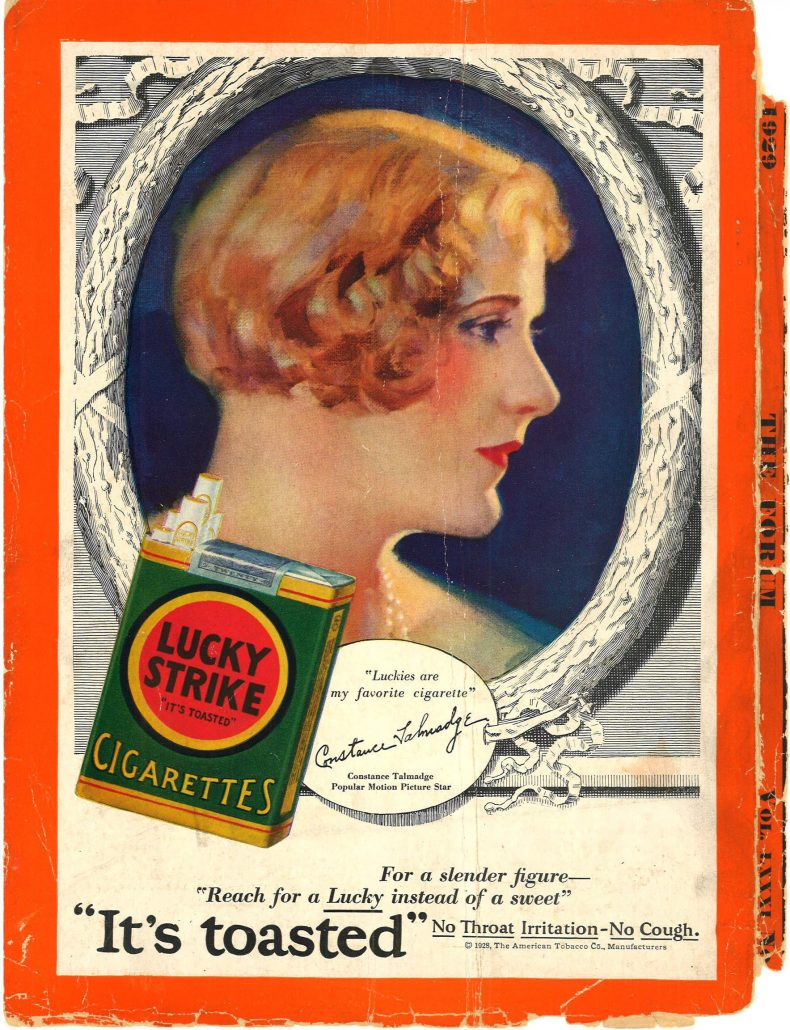 1929 The Forum Constance Talmadge for Lucky Strike 1