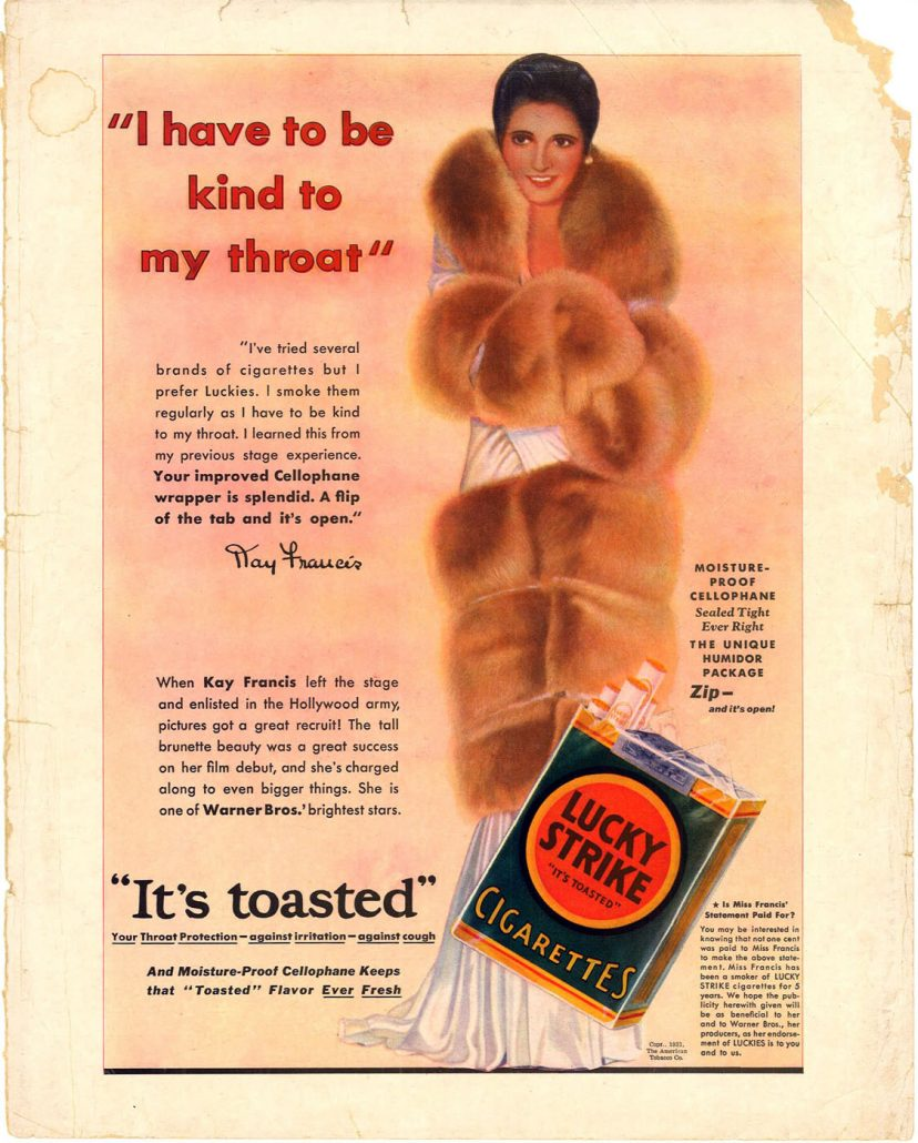 1931 Kay Francis for Lucky Strike