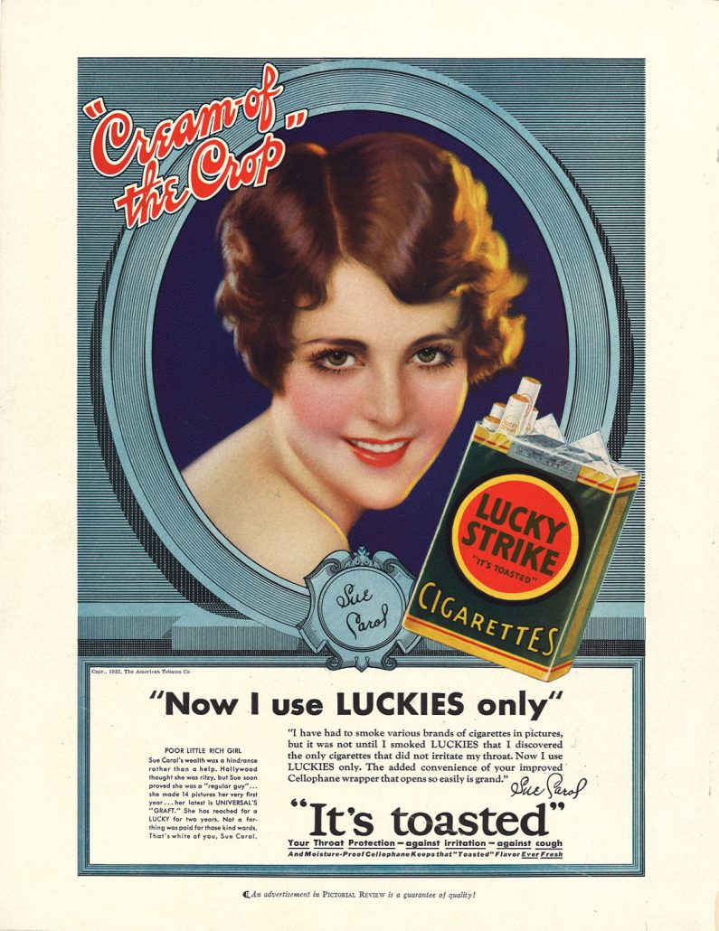 1932 04 Pictorial Review Sue Carol for Lucky Strike