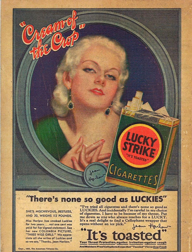 1932 Jean Harlow for Lucky Strike